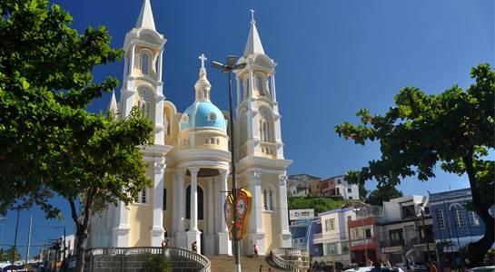 Catedral de São Sebastião, um dos pontos turísticos de Ilhéus