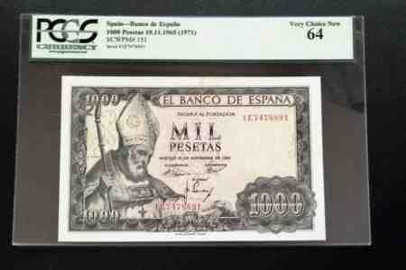 Spain 1000 Pesetas 1965