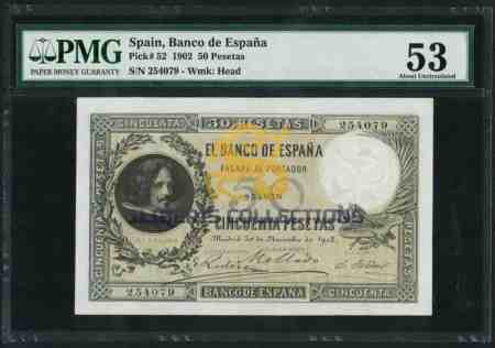 Spain 50 Pesetas 1902