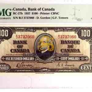 Canada 100 Dollars 1937