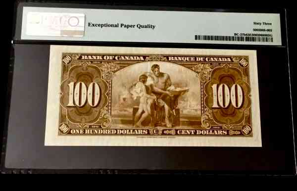 Canada 100 Dollars 1937-2