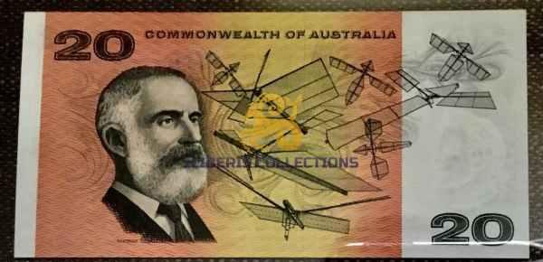 Australia 20 Dollars 1966 back