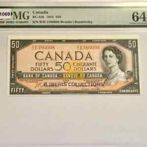 Canada 50 Dollars 1954 Portrait modified