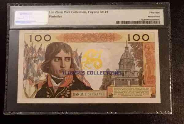 France 100 Nouveaux Francs 1964 back