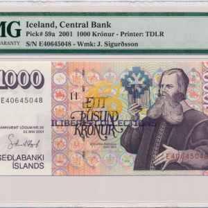 Iceland 1000 Kronur 2001