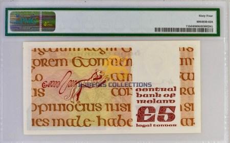 Ireland 5 Pounds 1976. back