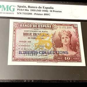 Spain 10 Pesetas 1935