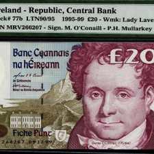 Ireland 20,Pounds 1999. PMG 65 EPQ.