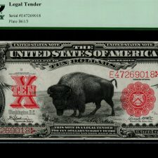 United States 10 Dollars Bison Note 1901 (Fr.122).PCGS 64.