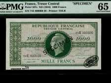 France 1000 Francs Marianne Specimen. PMG 65EPQ.