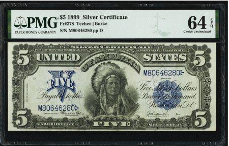 United States 5 Dollars 1899. PMG 64 EPQ.