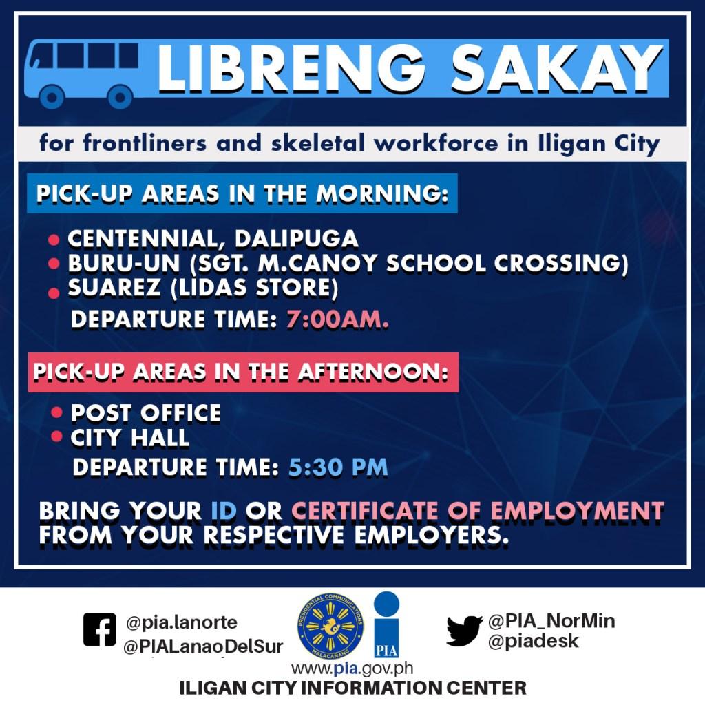 Iligan City free transportation