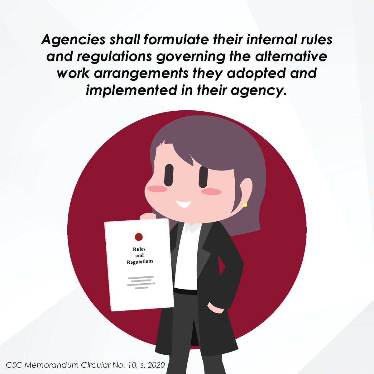 Agencies shall formulate their internal rules and regulations