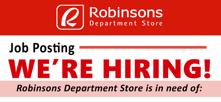 Robinsons Retail Holdings Inc Is Now Hiring