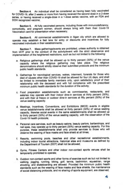 Executive Order (EO) No. 192 (2)