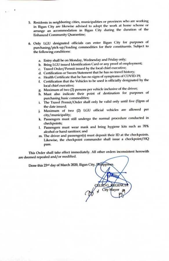 Iligan City COVID-19 Surveillance as of March 23, 2020 - 2