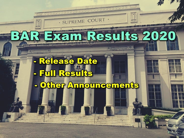 BAR Exam Results 2020