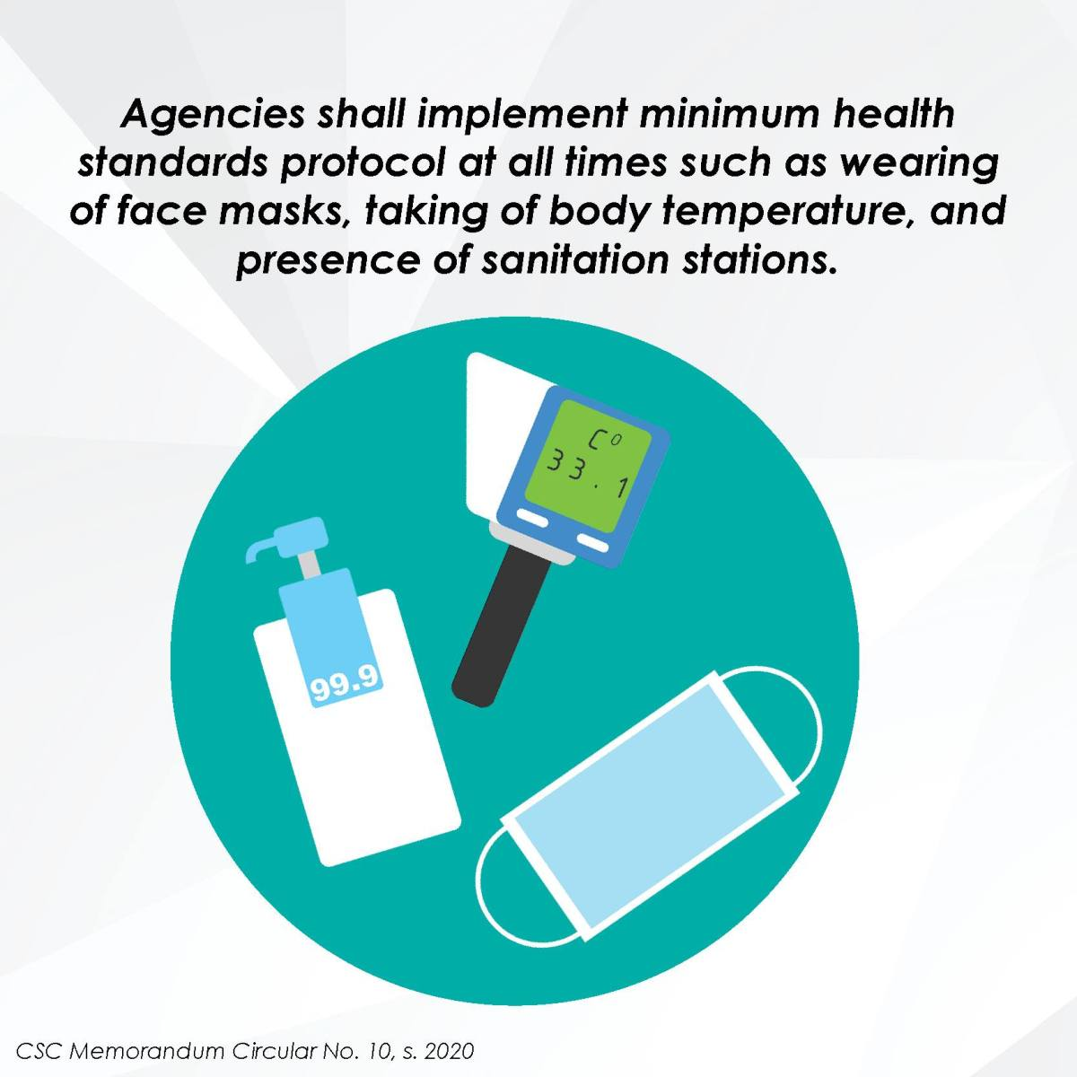 Agencies shall implement minimum health standards protocol