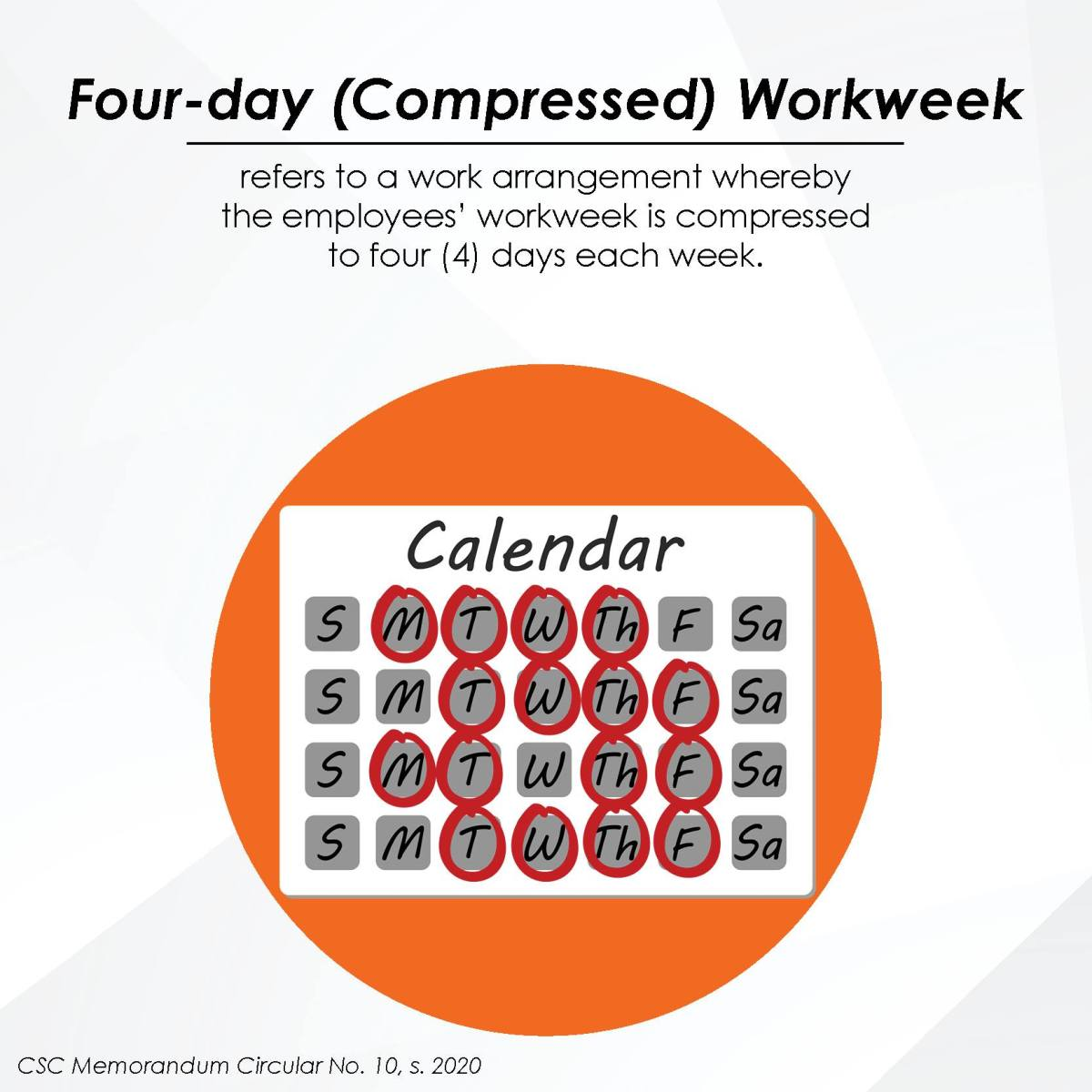 Four-day (Compressed) Workweek
