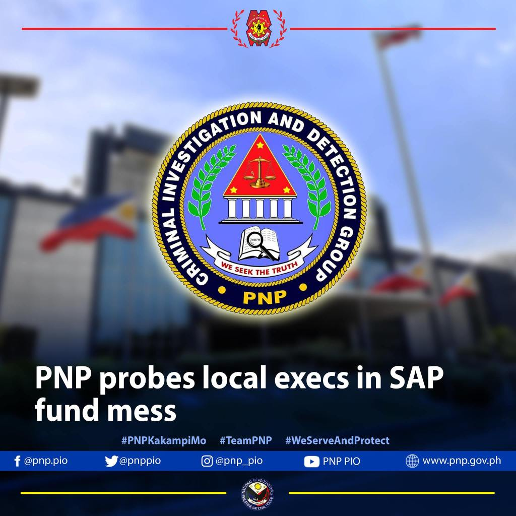 PNP PROBES LOCAL EXECS IN SAP FUND MESS