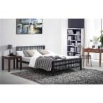 Oriental Shaker Style Black Metal Bed Frame King Size 5ft