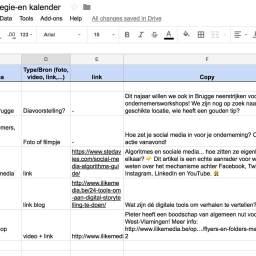 Sjabloon strategie en contentkalender