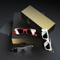 Black square Boxes Mockups for branding or logo design, 3d rende