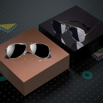Two Closed Square Black Boxes Mockup, 3d rendering