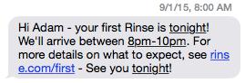 Rinse Text pickup