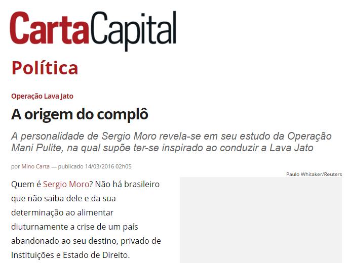 Como bom serviçal de Lula, Mino Carta obedeceu a ordem no dia seguinte
