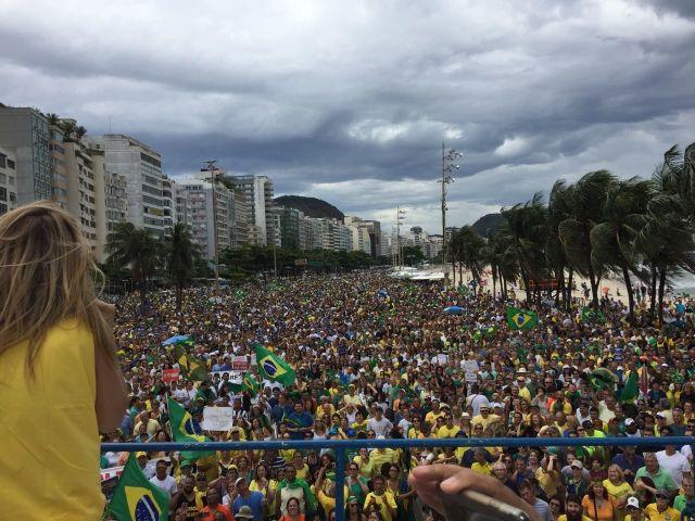 Manifestação no Rio de Janeiro reuniu 400 mil pessoas hoje (04)