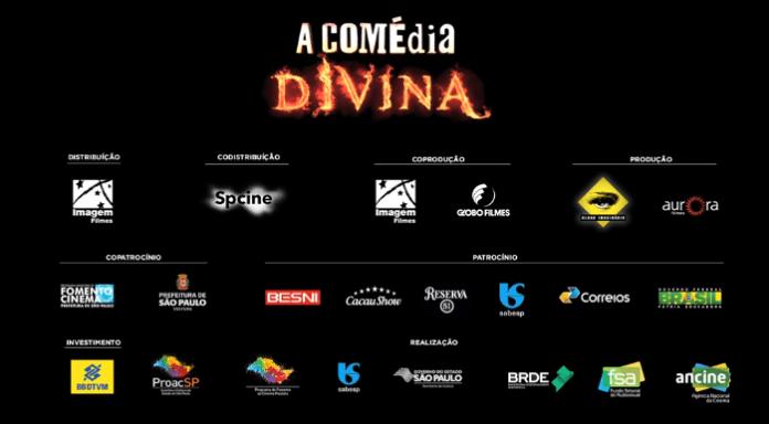 """Créditos presentes no trailer do filme """"A Comédia Divina"""": pagadores de impostos brasileiros financiaram o longa"""