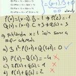 Matematik polinomlar. Siklardaki polinomlar (x-1) e tam bolunuyorsa kalan sifirdir. x=1 icin siklar sifir cikmali. Basarilar