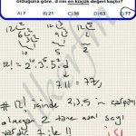 Faktoriyel ifade icerisindeki asal sayilar (2,3,5 haric) sonucu verir. Bilfen yayinlari