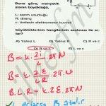 Selonoid icin manyetik alan formulunde i akimi yerine E/R yazip denklemi yorumlayip sonuca gidilir.