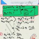 Geometrik dizilerde ardışık iki dizi nin orani sabit tir.