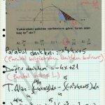 Parabol ve doğru denklemlerini bulup integral de alan hesabi