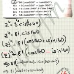 Karmaşık sayılar Üstel ifadeleri kutupsal çözüm