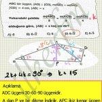 Trigonometri ve dik üçgen soru çözüm