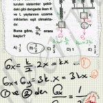Seri ve paralel baglanan yaylarin uzama katsayıları değişir. Körfez Yayınları kuvvet. #ygs #lys fizik