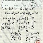 Mutlak Deger kökler tespiti soru çözüm #ygs #lys matematik fem Yayınları