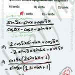 Trigonometri dönüşümler #ygs #lys matematik fem Yayınları