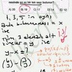 3 elemanli alt kumelerinden en az bir tek sayının bulunması