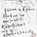 Fonksiyonlar da f(x)=a ise f^-1(a)=x olur..