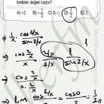 Sinx/x in limiti 1 dir. #limit #YGSyeAzKaldı #matematik