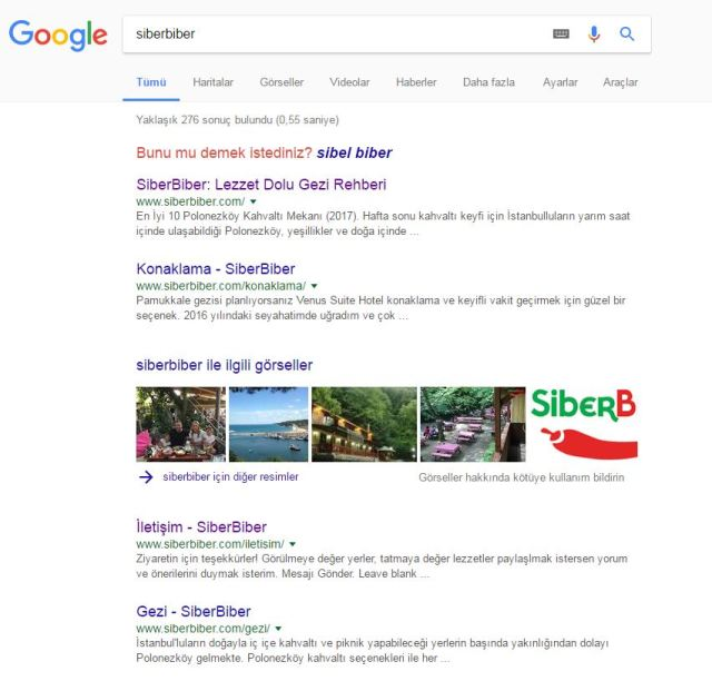 SiberBiber marka arama sonuçları