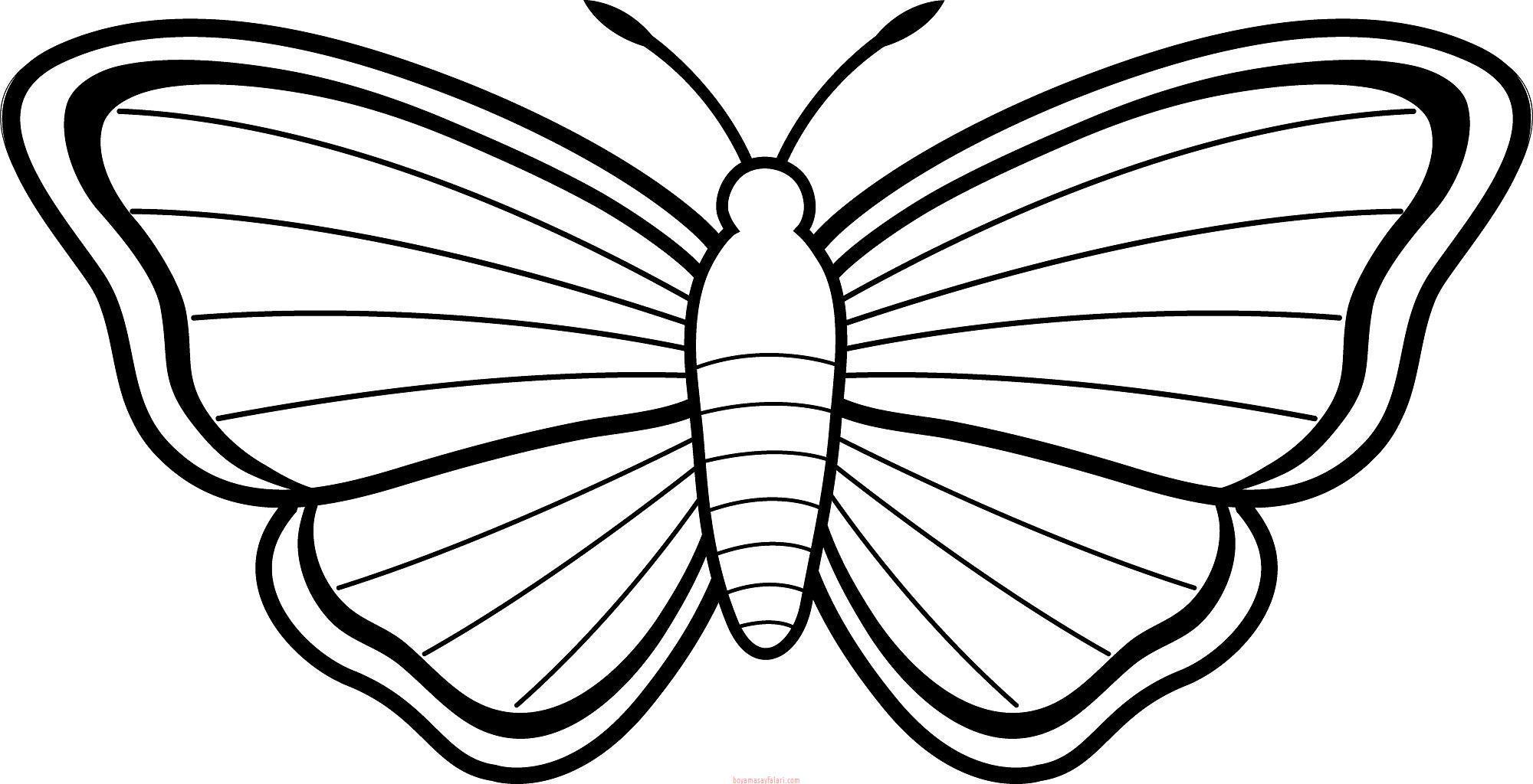 Kelebek Boyama Sayfalar Kelebek Ablonlar