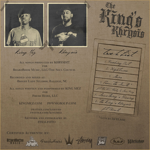 PICK OF THE WEEK: King Mez & Khrysis (FreEP)