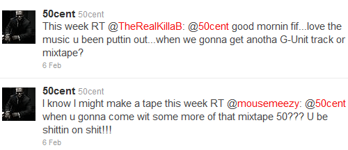50 Cent Twitters About New Mixtape