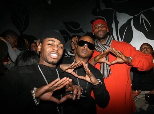 Lebron James Parties With Rappers – Jay Z, Fabolous, Jadakiss
